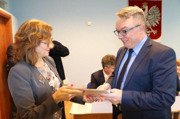 Podpisanie umowy na remont drogi gminnej Wola Łagowska (Kącik)-Gęsice