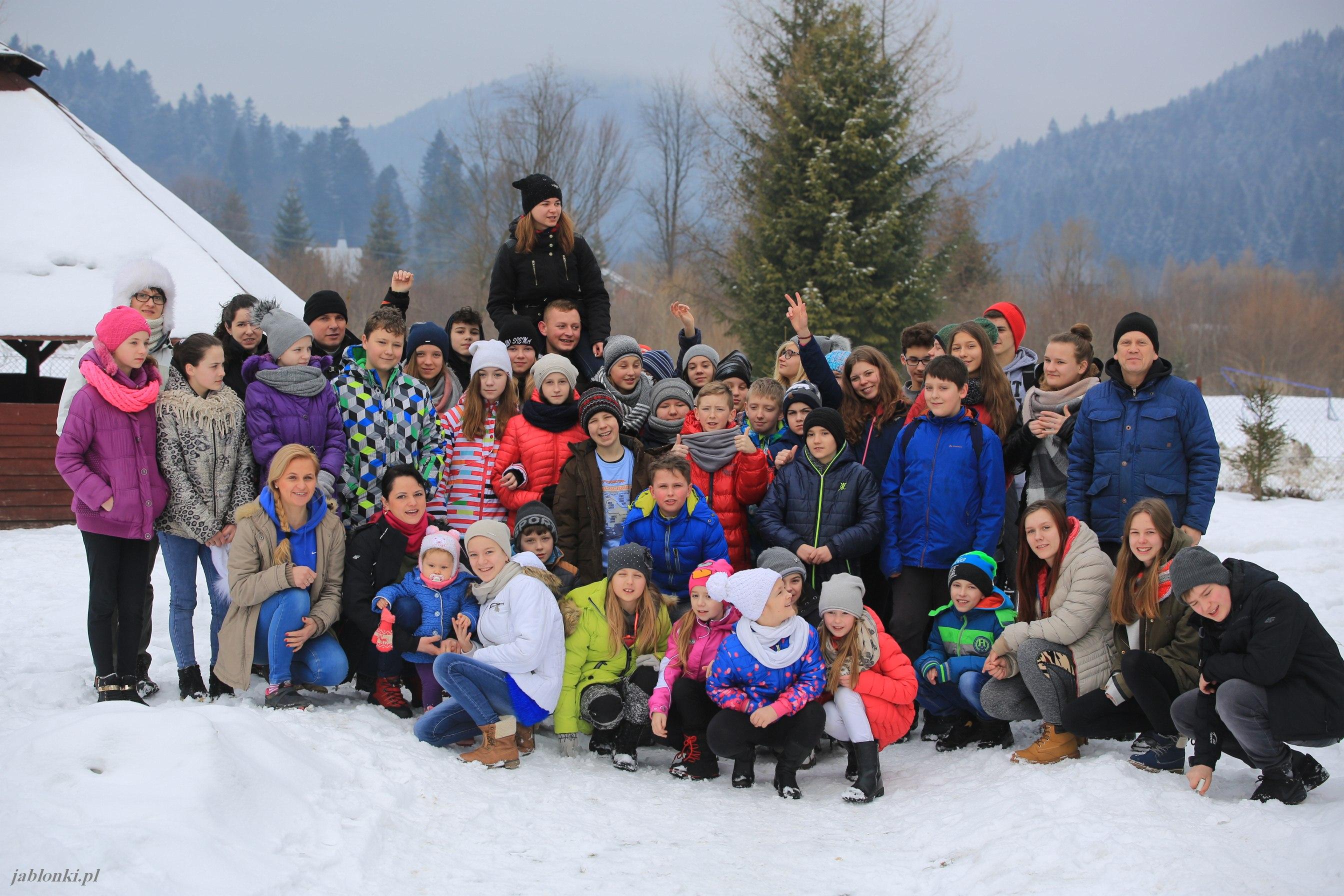 Dzieci z gminy Łagów na zimowisku w Bieszczadach