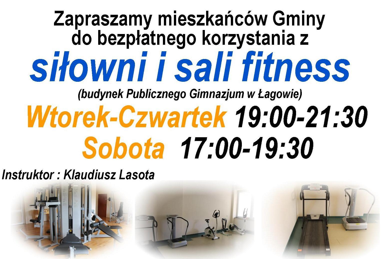 Uwaga: nowe godziny i dni korzystania z siłowni i sali fitness - zapraszamy!