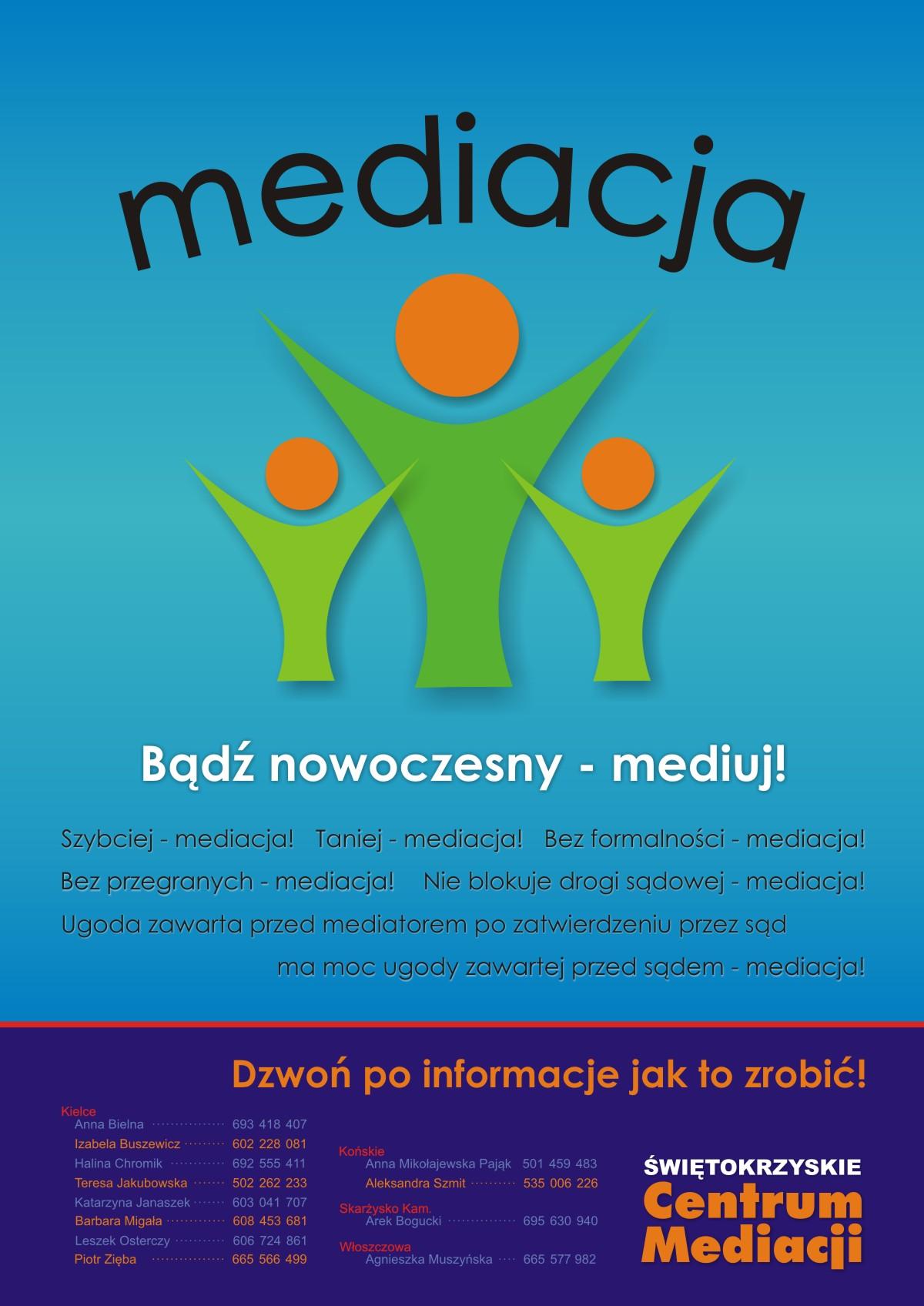 Zaproszenie na spotkanie nt: Mediacja -rozsądna alternatywa- nowy sposób rozwiązywania konfliktów